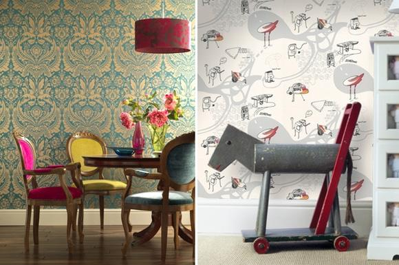 Cool Wallpapered Rooms   At Home with Kim Vallee