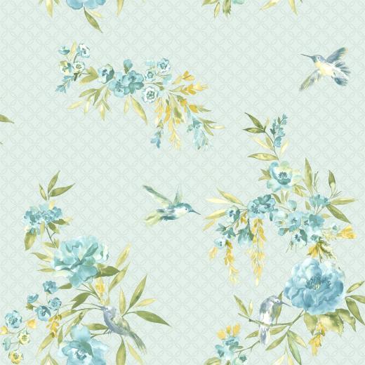 Holden Amaya Floral Pattern Flower Bird Motif Metallic Wallpaper 11483