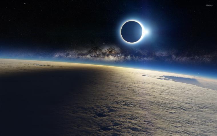 4k Wallpaper Space Eclipse wallpaper 1920x1200