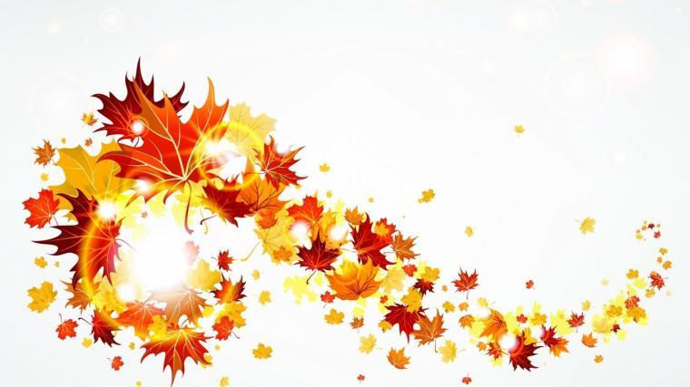 Swirling Autumn leaves wallpaper 4233
