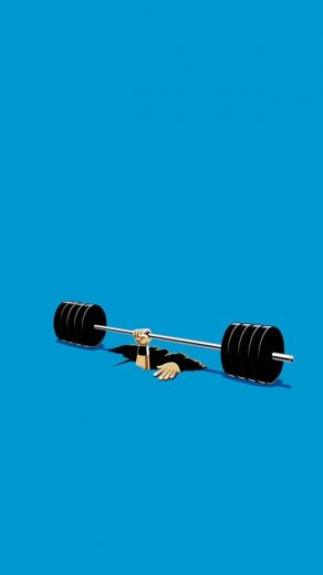 TAP AND GET THE FREE APP Art Creative Funny Gym Hand Blue HD