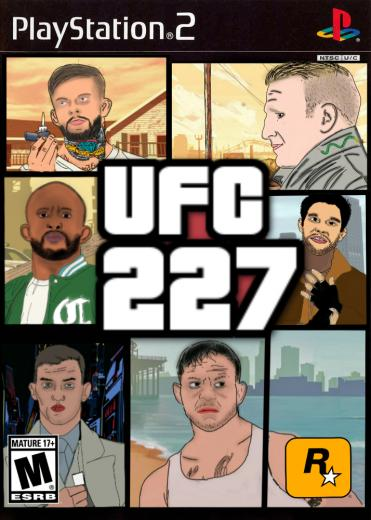 My illustrated UFC 227 poster Cant wait for this card MMA News