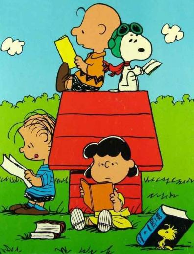 The Peanuts Gang Reading computer desktop hd wallpapers