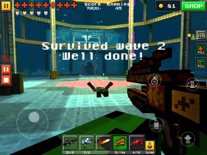 Pixel Gun 3D NEW SURVIVAL MAP [3] This map was amazingly made The