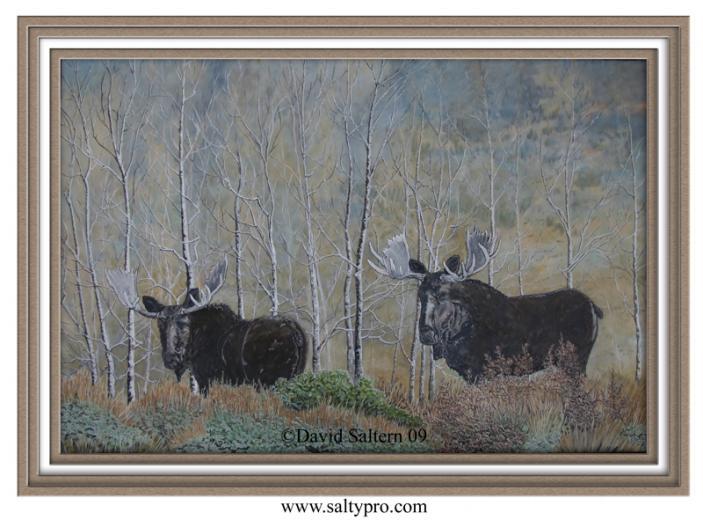 moose wallpaper Moose oil painting