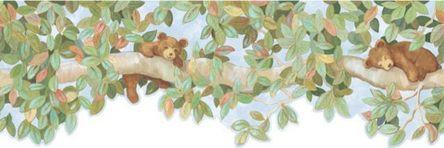 Bear Cubs Wallpaper Border   Rustic   Wallpaper   by Black Forest