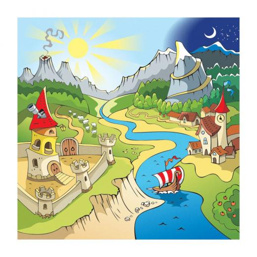 MD3089 Dreamland Cartoon Kid Removable Wallpaper Mural Lowes Canada