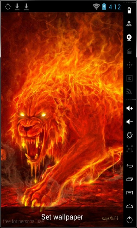 Download Monster Of Fire Live Wallpaper for your Android phone