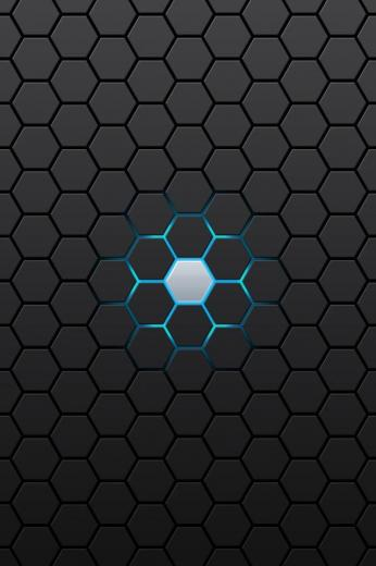 hd abstract black hexagon iphone 4 wallpapers backgrounds