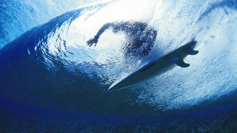 Download Wallpaper 1920x1080 Surfing Surfer Water Depth Full HD