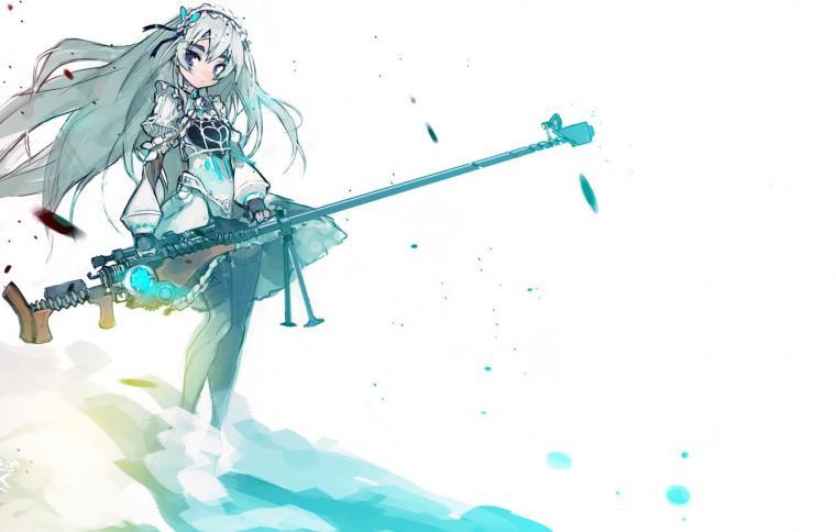 Wallpaper girl weapons barrette sniper rifle Chaika the coffin