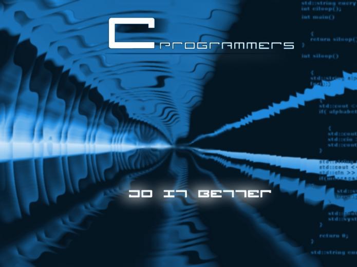 free 3d computer abstract black blue desktop wallpaper for programmers