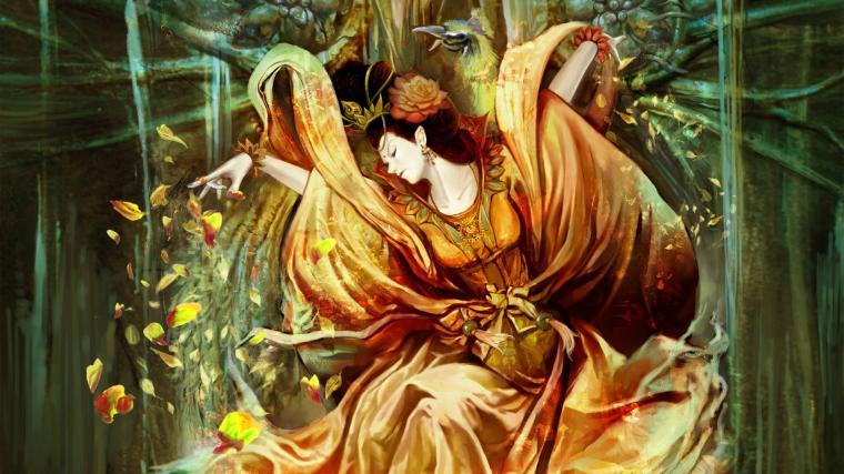 anime geisha wallpaper 234148 geisha with rose petals