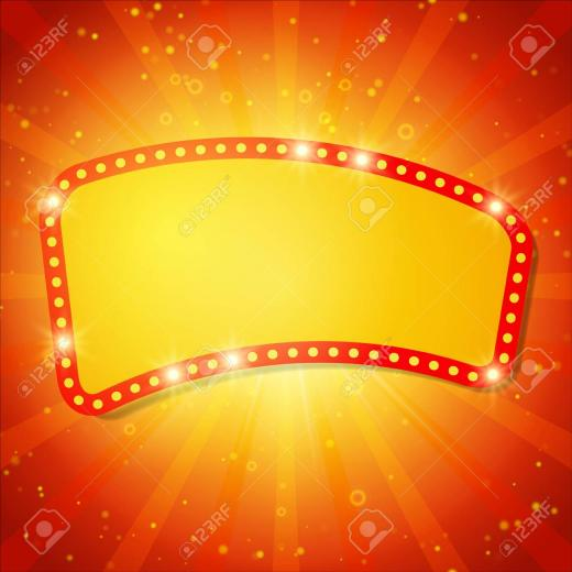 Shining Background With Retro Casino Light Banner Vector