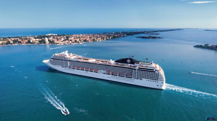 Wallpaper Cruise ship MSC Poesia 1366 x 768 Desktop wallpapers