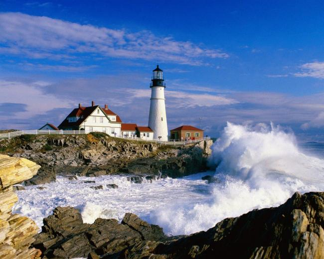 Portland Maine Headlight Lighthouse