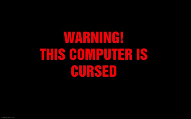 Computer Is Cursed Cute Fun Wallpapers Funny Wallpapers 1600x900 Jpg
