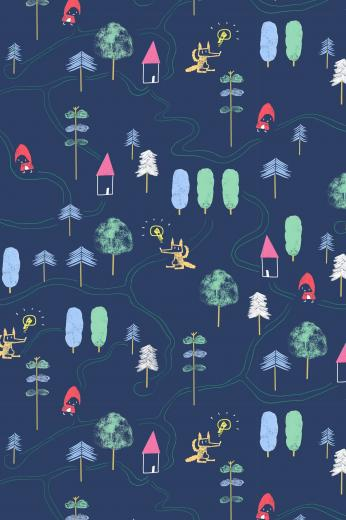 What about a playable wallpaper for your kids room Red Riding