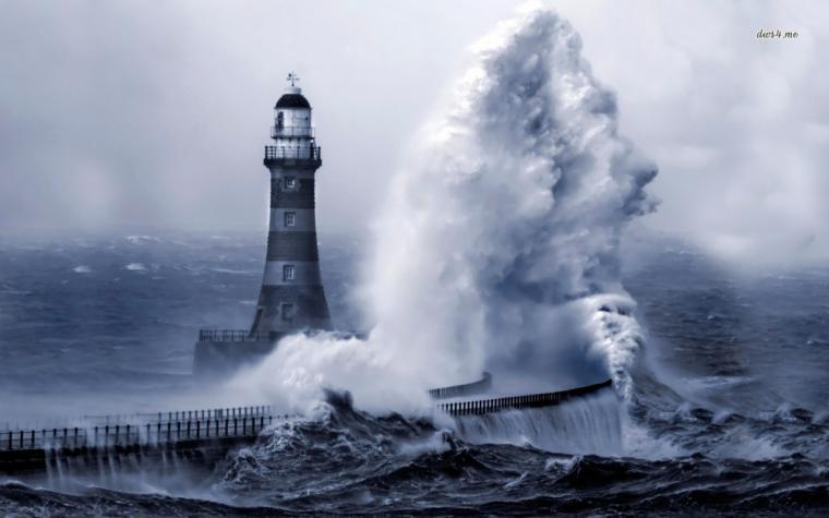 Roker Pier Lighthouse England wallpaper   World wallpapers   9403