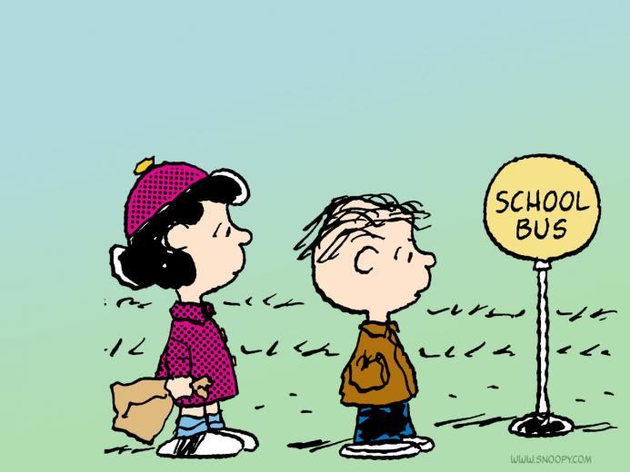 school bus linus and lucy   Peanuts Wallpaper 6273388