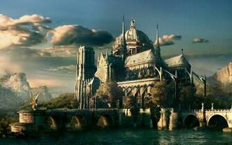 page size 1440x900 desktop wallpaper of fantasy castle