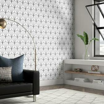 Wrought Studio Hartle 48 L x 24 W Peel and Stick Wallpaper Panel