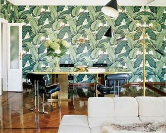 10 Of My Favorite Interiors with Palm Leaf Wallpaper Live The Life