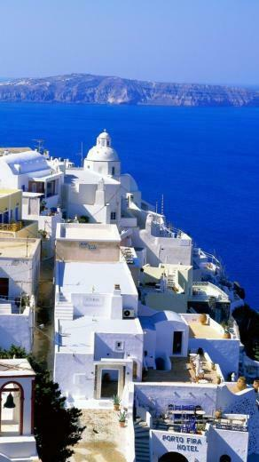 Santorini Greece Wallpaper iPhon HD Wallpaper Background Images