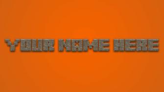 Get your own Minecraft Logo