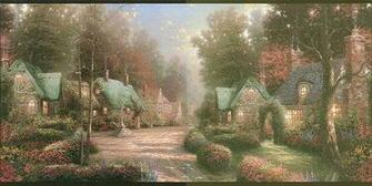 Thomas Kinkade Wallpaper Borders Village