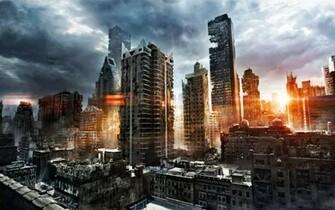 Image   Sunrise destroyed city wallpaperjpg   The Savage Lands