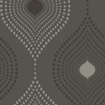 Tia Geometric Design Wallpaper Black Sample modern wallpaper