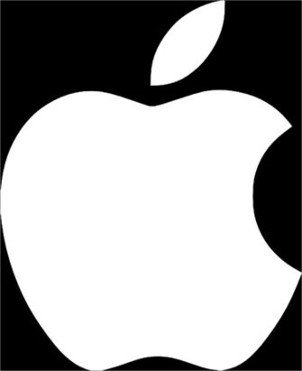 White Apple Logo On Black Background Clip Art at Clkercom   vector