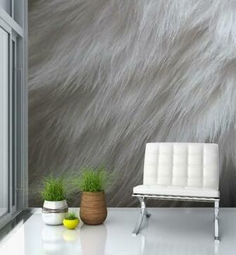 Furry Wallpaper For Bedrooms Fur wallpaper mural