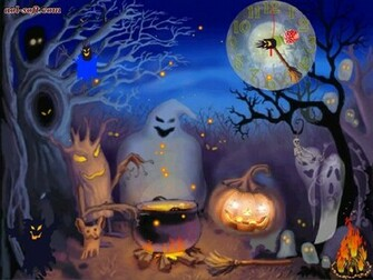 Happy Halloween Live Animated Wallpaper Screenshot Desktop Themes