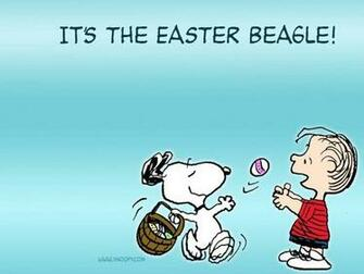 Snoopy Peanuts Easter Desktop