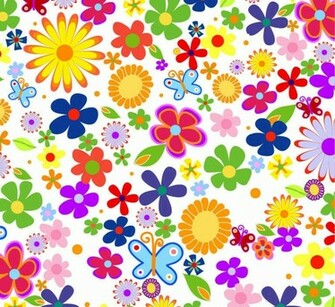 Spring Flowers Background Vector Graphic Vector Graphics All