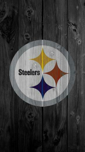 iPhone 5 Wallpaper Wood steelers