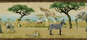 Wild Animal Wallpaper Border Safari animal wallpaper border