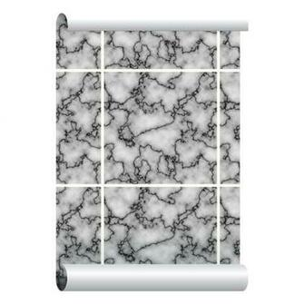 Self adhesive Removable Wallpaper Marble Tiles Wallpaper Peel and
