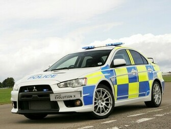 Mitsubishi Lancer Evolution X Police Edition Wallpapers Car Walls