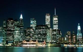 World USA New York  NY City lights   New York   USA 010840 jpg