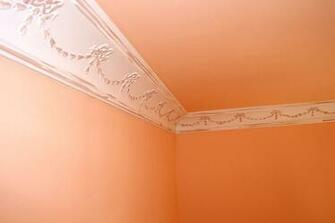 DCT Carved Styrofoam Crown Molding 6 in wide 65 ft long wallpaper