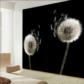 living room wallpaper wallpaper abstract black and white dandelion