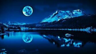 Super Moon Blue Wallpaper Wallsevcom   Download HD