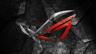 asus rog republic of gamers logo hd 1920x1080 1080p wallpaper and