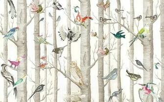 The Style PA at Home DECORATING   Its a Birdy Wallpaper