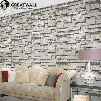 Great wall brick wall background wallpaper grey for living room 3d