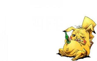 pokemon pikachu funny drunk alcoholism 1680x1050 wallpaper