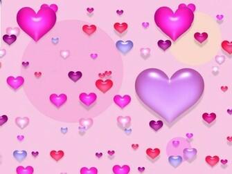 Cute Valentine Purple Hearts Wallpaper 1024x768 pixel Popular HD